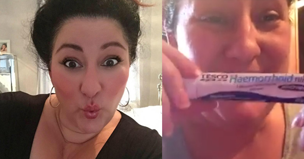 She Follows Really Old Beauty Advice Regarding A Hemorrhoid Cream. Her Reaction Is Hilarious.